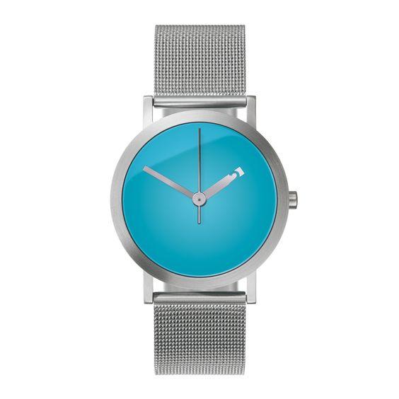 Vivid Cyan Watch. Crazy cool peeking numbers!: Men S Watches, Mens Fashion, Watch, Men Watches