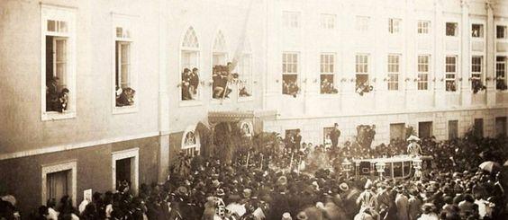 Princesa Isabel na saída de sua aclamação como regente no passo imperial em 1888