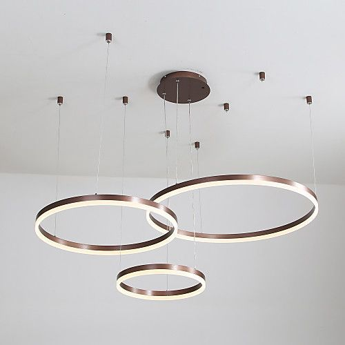 60w Led Circle Chandelier Led Pendant Lights Ad 1 Le Lustre Mene De Cercle De 6 In 2020 Ceiling Lights Living Room Circle Chandelier Ceiling Design Living Room