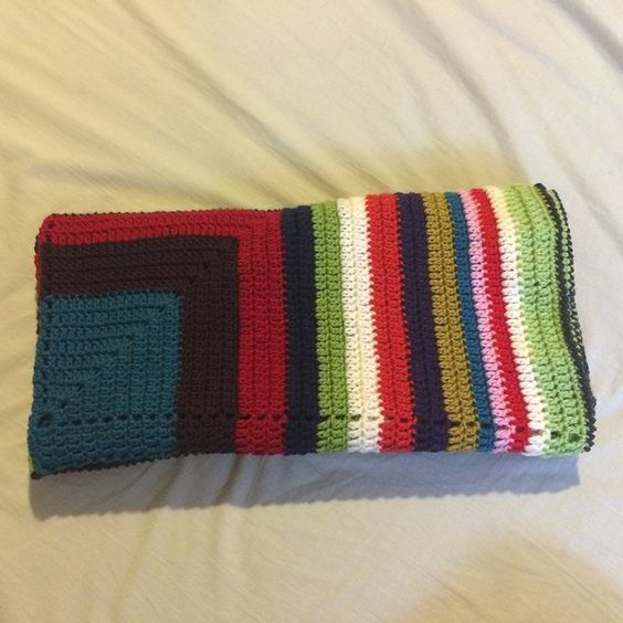 """Finished my first blanket for 2015!!"""