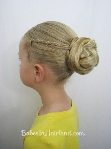 Knotted Bun with Micro-Braids | 37 Creative Hairstyle Ideas For Little Girls