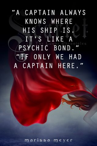 Scarlet by Marissa Meyer Genres: Dystopia, Fairy Tales, Fantasy, Romance, Young Adult - book quote