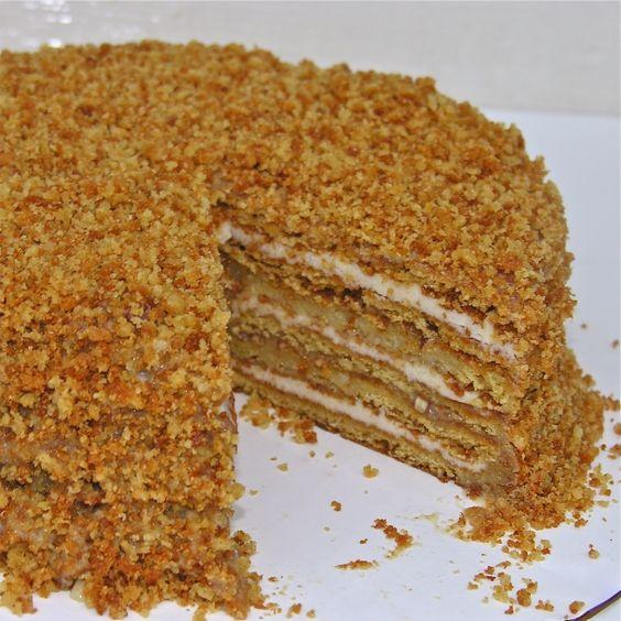 Medovnik Honey Cake... Traditional Czech dessert my Grandmother would make.