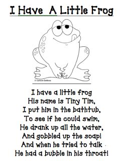 I have a little frog poem/printable (other great printables too!)
