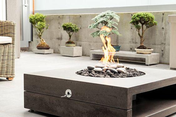 concrete fir feature by landscape furnishings