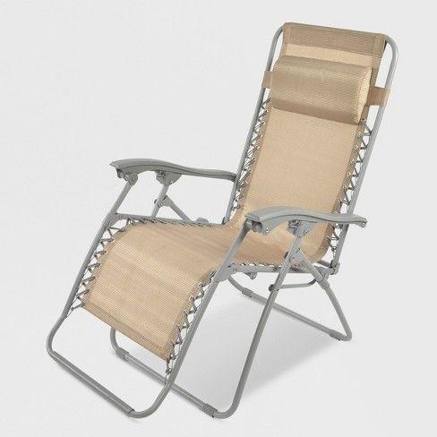 Zero Gravity Lounger Tan Threshold Target Lounge Chair Outdoor Lounger Zero Gravity