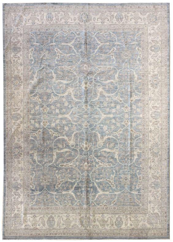 Soft-Tone Rugs Gallery: Soft-Tone Tabriz Design Rug, Hand-knotted in Pakistan; size: 7 feet 8 inch(es) x 10 feet 7 inch(es)