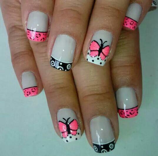 25 Diseños De Uñas De Mariposas Que Reflejan Libertad Y Buen Gusto