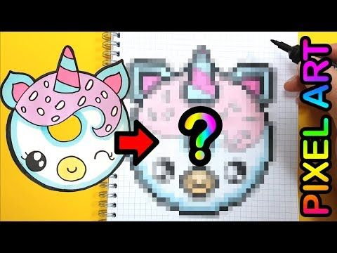 Tuto Donut Licorne Le Monde Du Pixel Art Youtube Donut