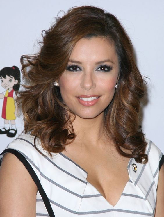 Eva Longoria Parkers sexy layered hairstyle