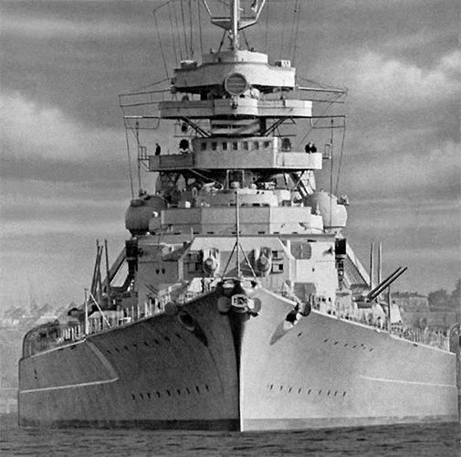 14 Feb 39: The great German battleship BISMARCK is launched, the most powerful ship in the Kriegsmarine. In the course of her short career, the Bismarck will conduct only one offensive operation, during which on 24 May 41 she will engage and destroy the battlecruiser HMS Hood, the pride of the Royal Navy. A relentless pursuit will find, cripple and destroy the Bismark three days later.: