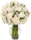 22 Long Stem Elegance Rose Alstro Bouquet - With Vase - http://tonysgifts.net/2015/02/23/22-long-stem-elegance-rose-alstro-bouquet-with-vase/