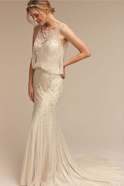 14 Best Gold Wedding Dresses 2020 - Sparkly Champagne Wedding Gowns