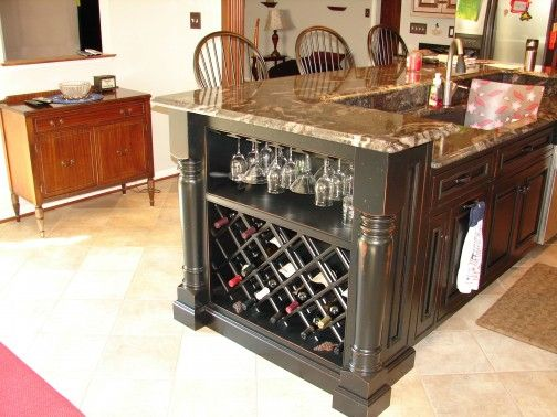 Kitchens With Wine Racks In End Cabinets Add A Rack To The Of An Island Cabinet This Will Ideas For House