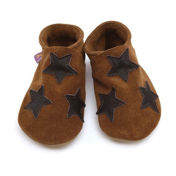 Chaussons cuir Starchild Stars Choco