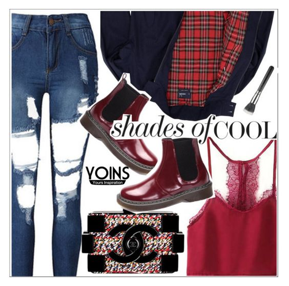 """""""Yoins"""" by teoecar ❤ liked on Polyvore featuring Fred Perry and Chanel"""