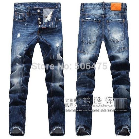 new style, fashion DSQ brand Men's jeans Classic casual slim jeans ...