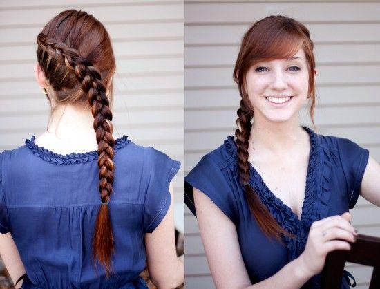 Katniss' Braid (Dutch Braid)