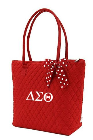 Delta Sigma Theta Quilted Tote Bag ... Pretty awesome. I should probably add this to my collection :-).