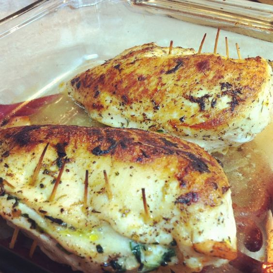 Stuffed Chicken with Feta & Spinach | Chicken breasts ...