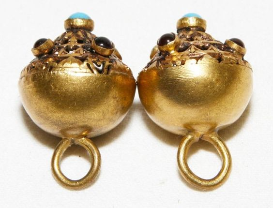 ANTIQUE AUSTRO HUNGARIAN SILVER GOLD PLATED UNIFORM TWO BUTTONS w GLASS 1850's in Antiques | eBay