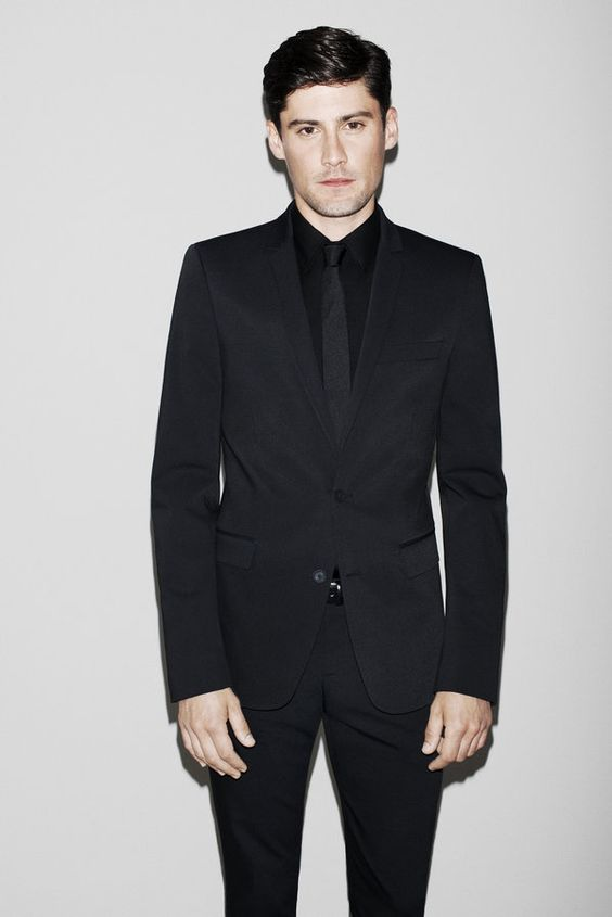 I like the all black suit... August - Man