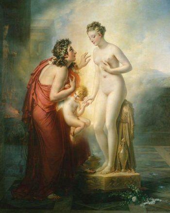 Anne-Louis Girodet de Roucy Trioson, Pygmalion and Galatea, 1813-1819,: