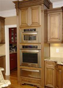 Wall oven microwave cabinet love the trim and furniture for Wall oven microwave combo cabinet