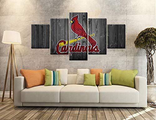 Miauen St Louis Cardinals Wall Decor Posters With Frame Wall Art Canvas Prints Decoration Basebal In 2020 Sports Room Decor Home Decor Wall Art Wall Art Canvas Prints
