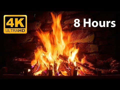 The Best Fireplace Video 10 Hour Crackling Logs Rain And Jazz Youtube Virtual Fireplace Fireplace Fireplace Video