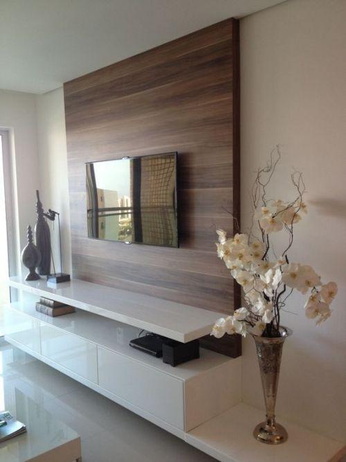 meuble TV tout un mur en pallissandre | Idée meuble tv, Déco ...