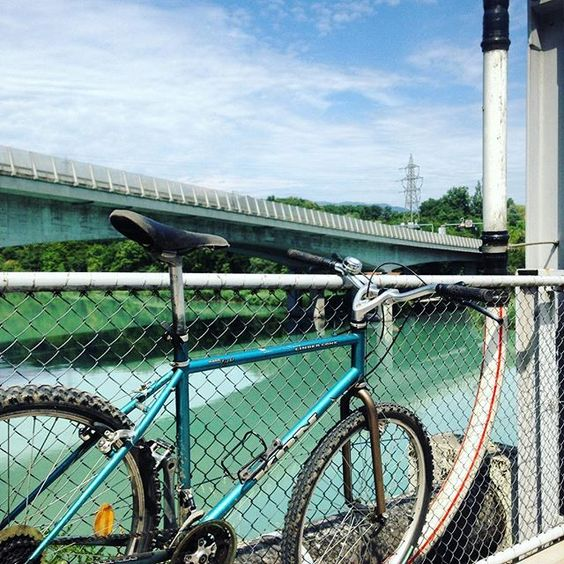 #cycling in canton #geneva over the #rhone river on yet another great #summerday -- #bike #bikelife #kona #switzerland #Suisse
