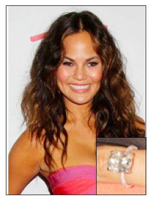 Chrissy Teigen Engagement Ring Celebrity Rings Pinterest
