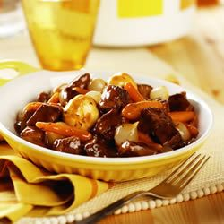 Slow Cooker Simple Beef Bourguignonne Allrecipes.com...this is kinda like Mamas...I think she added a lil love ~<3~