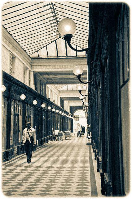 flâneur at Passages couverts de Paris (inspiration for Walter Benjamin's Arcades Project) #flaneur