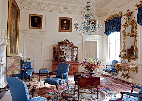 Prince Charles's Traditional Living Room | AD DesignFile - Home Decorating Photos | Architectural Digest