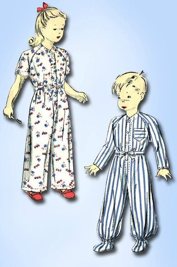 1940s Vintage WWII Baby Footie Pajamas 1941 Du Barry Sewing Pattern Sz 1
