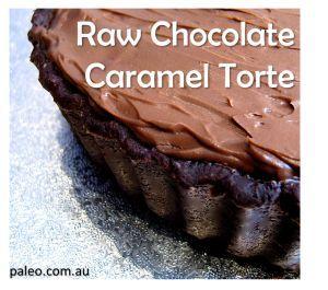 Paleo Diet Recipe Primal Raw Chocolate Caramel Torte