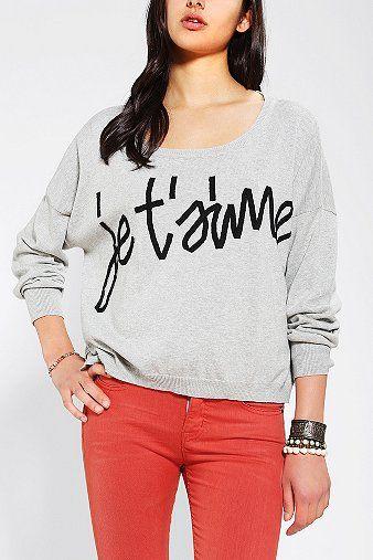 Sparkle & Fade Phrase Sweater