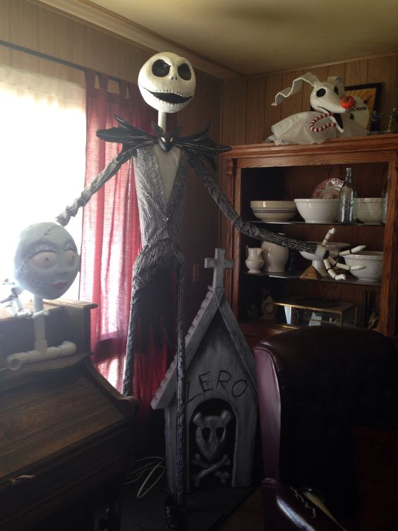 Life size jack Skellington and zero | My personal projects ...