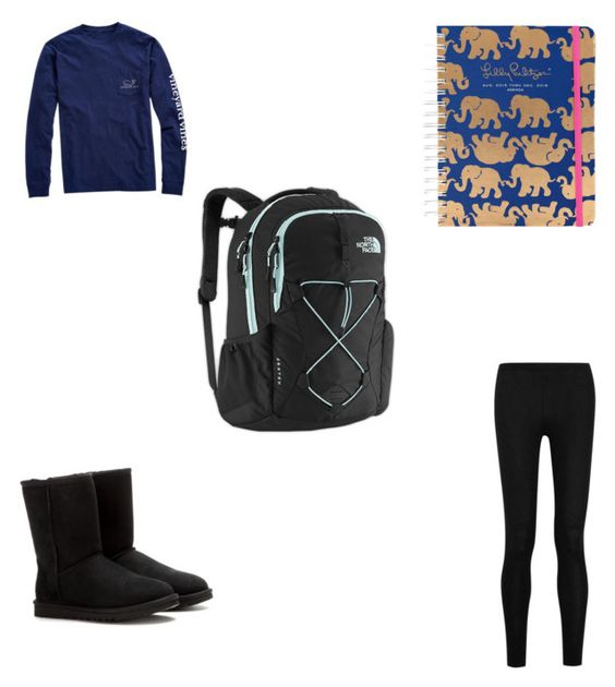 """Lazy day outfit"" by kking03-1 ❤ liked on Polyvore featuring Vineyard Vines, UGG Australia, The North Face, Lilly Pulitzer and Donna Karan"