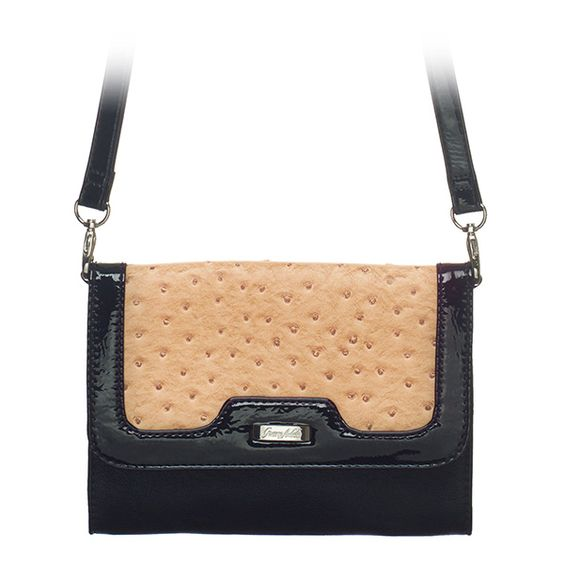 """Lou-Sand Grace Adele Clutch    As versatile as you need it to be — a timeless envelope design in contrasting colors and fabric. A detachable strap makes it a cinch to take with you anywhere, anytime.     Fits inside the exterior pocket on your favorite Grace Adele bag.     • Faux leather  • 8"""" L, 6"""" H  • 46.5"""" detachable strap    https://myfashions.graceadele.us/GraceAdele/Buy/ProductDetails/10588"""