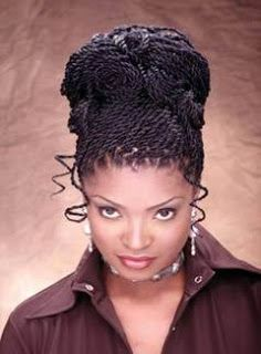 Strange Projects To Try On Pinterest Two Strand Twist Updo African Hairstyle Inspiration Daily Dogsangcom