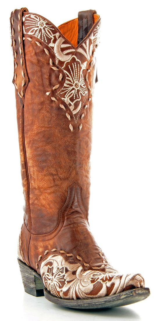 Womens Old Gringo Erin Boots Bone, Brass Style L640-4 | Old Gringo ...