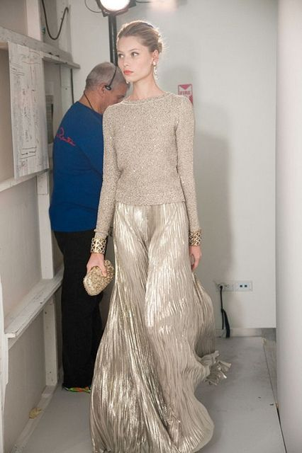 {fashion inspiration   gold : head-to-toe} by {this is glamorous}, via Flickr
