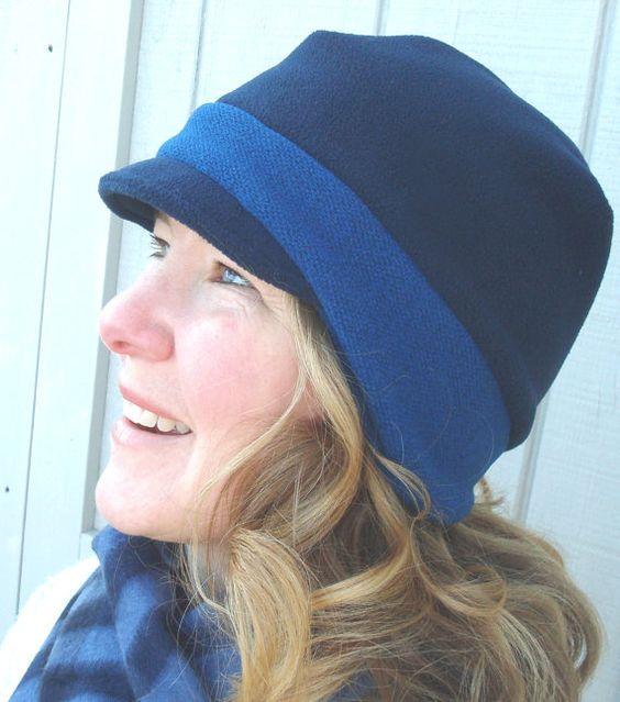 Unisex Winter Fashion - Polartec Fleece Newsboy Hat by BoundtobeCreative, $24.50