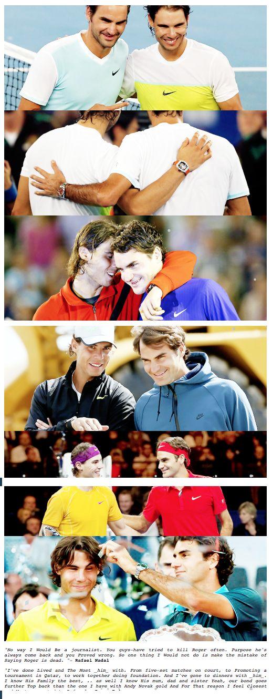 Roger Federer & Rafael Nadal Une vrai complicité et un grand respect entre les deux joueurs