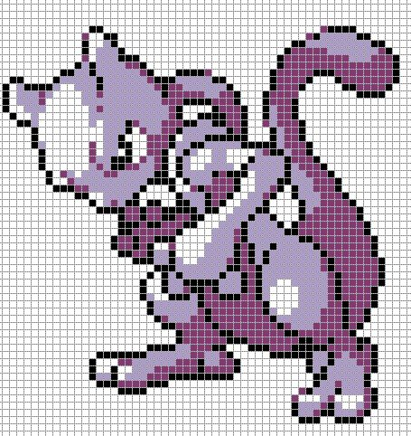 Pokemon from the game Pokemon yellow. Placed in grid format to make it easier for pixel-arters to create on minecraft, in hama form, cross-stitch or other form of non-isometric pixel art. Colour en...