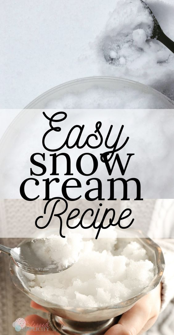 Easy Snow Cream Recipe