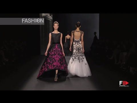 """MONIQUE LHUILLIER"" New York Fashion Week Fall Winter 2014 2015 by Fashion Channel - YouTube"